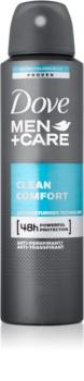 Dove Men+Care Clean Comfort Antiperspirant deodorantspray 48 timer