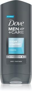 Dove Men+Care Clean Comfort hydratační sprchový gel na obličej, tělo a vlasy