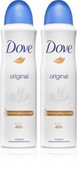 Dove Original antitranspirante em spray 2 x 150 ml (formato poupança)