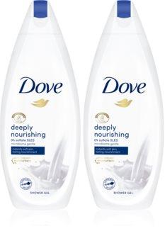 Dove Deeply Nourishing hranjivi gel za tuširanje 2 x 250 ml (ekonomično pakiranje)