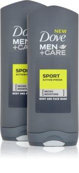 Dove Men+Care Sport Active+Fresh osvěžující sprchový gel (výhodné balení)
