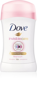 Dove Invisible Care Floral Touch anti-transpirant solide anti-traces blanches sans alcool
