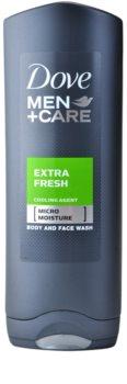 Dove Men+Care Extra Fresh gel za prhanje za telo in obraz