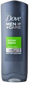 Dove Men+Care Extra Fresh гель для душа для тела и лица