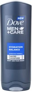 Dove Men+Care Hydration Balance gel de ducha para cabello y cuerpo para hombre