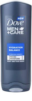 Dove Men+Care Hydration Balance Vartalo- ja Hiussuihkugeeli Miehille