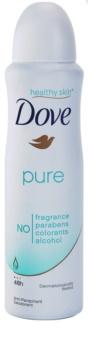 Dove Pure desodorizante antitranspirante em spray