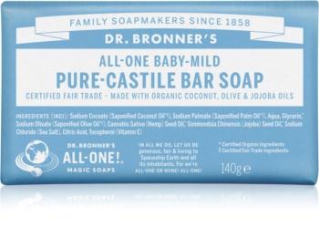 Dr. Bronner's Baby-Mild твердое мыло без запаха