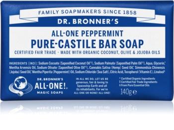 Dr. Bronner's Peppermint sabonete sólido