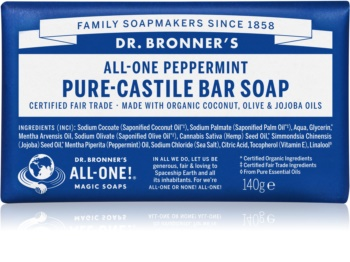 Dr. Bronner's Peppermint savon solide