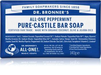 Dr. Bronner's Peppermint tuhé mýdlo