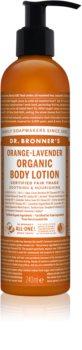 Dr. Bronner's Orange & Levender tápláló és hidratáló testápoló tej