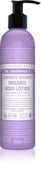 Dr. Bronner's Lavender & Coconut intenzíven tápláló testápoló tej normál és száraz bőrre