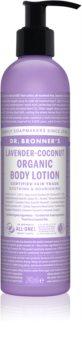 Dr. Bronner's Lavender & Coconut lapte de corp intens hrănitor pentru piele normala si uscata