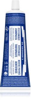 Dr. Bronner's Peppermint bieliaca zubná pasta bez obsahu fluoridu