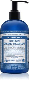 Dr. Bronner's Peppermint sapone liquido per corpo e capelli
