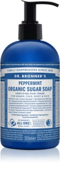 Dr. Bronner's Peppermint tekuté mydlo na telo a vlasy