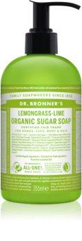 Dr. Bronner's Lemongrass & Lime folyékony szappan testre és hajra