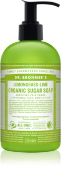 Dr. Bronner's Lemongrass & Lime Nestemäinen Saippua Vartalolle ja Hiuksille