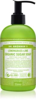 Dr. Bronner's Lemongrass & Lime sapone liquido per corpo e capelli