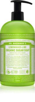 Dr. Bronner's Lemongrass & Lime sabonete líquido para corpo e cabelo