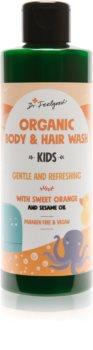 Dr. Feelgood Kids Sweet Orange Silkig duschgel för barn