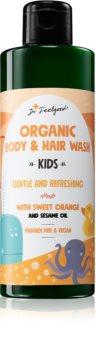 Dr. Feelgood Kids Sweet Orange gel de duș mătăsos pentru copii