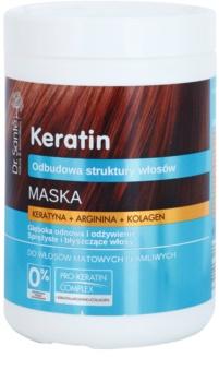Dr. Santé Keratin Dybderensende, genoprettende og nærende maske til skørt og kedeligt hår