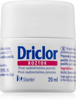 Driclor Solution Roll-on antiperspirant  För att behandla överdriven svettning