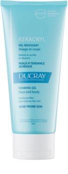 Ducray Keracnyl очищуючий пінистий гель для жирної шкіри зі схильністю до акне