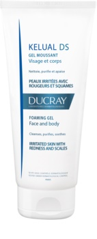 Ducray Kelual DS gel moussant doux pour nettoyer les peaux irritées visage et corps