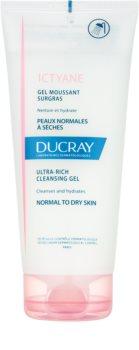 Ducray Ictyane gel de limpeza em espuma para pele normal e seca