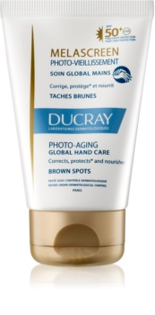 Ducray Melascreen komplexe Handpflege mit Sonnenschutzfaktor 50+ gegen Pigmentflecken