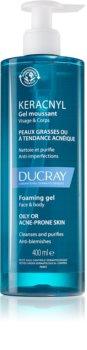 Ducray Keracnyl gel espumoso de limpeza para pele oleosa propensa a acne