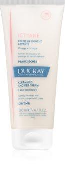 Ducray Ictyane creme de duche para corpo e rosto