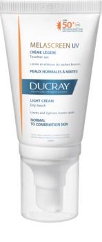 Ducray Melascreen лек слънцезащитен крем против пигментни петна SPF 50+