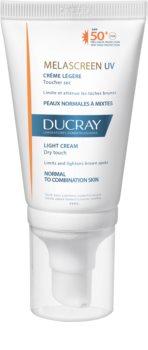 Ducray Melascreen leichte Sonnencreme gegen Pigmentflecken SPF 50+