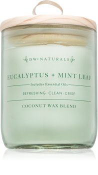 DW Home Eucalyptus + Mint Leaf scented candle