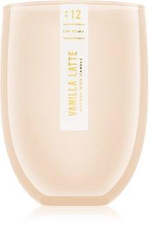 DW Home Vanilla Latte vela perfumada com pavio de madeira