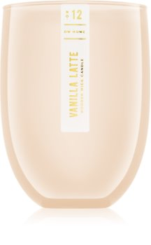 DW Home Vanilla Latte vela perfumada  con mecha de madera
