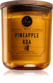 DW Home Pineapple Koa vonná svíčka s dřevěným knotem