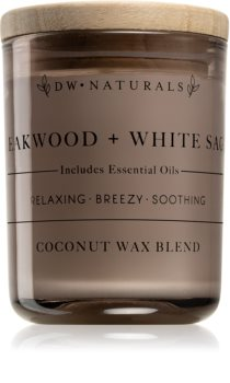 DW Home Teakwood + White Sage scented candle