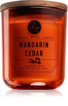DW Home Mandarin Cedar vonná svíčka s dřevěným knotem
