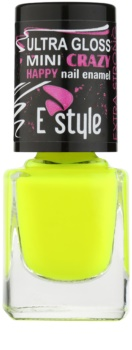 E style Mini Crazy esmalte tono neón para uñas artificiales y naturales