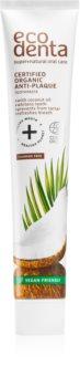 Ecodenta Certified Organic Anti-plaque Anti-Plaque Zahnpasta für gesundes Zahnfleisch mit Kokosöl
