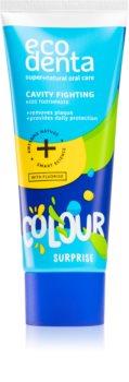 Ecodenta Colour Surprise Pasta de dinti pentru copii. impotriva cariilor dentare