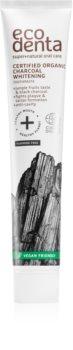 Ecodenta Certified Organic Charcoal whitening pasta de dinti pentru albire cu cărbune activ