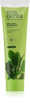 Ecodenta Green Brilliant Whitening dentifrice blanchissant au fluor pour une haleine fraîche