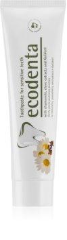 Ecodenta Green Sensitivity Relief зубная паста для чувствительных зубов с содержанием фтора