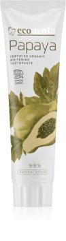 Ecodenta Cosmos Organic Papaya pasta wybielająca do zębów z fluorem